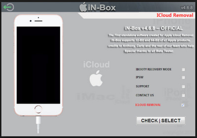 iPhoneiCloud Lock Remove Any IOS Unlock Tool iN-BoxV4.8.0