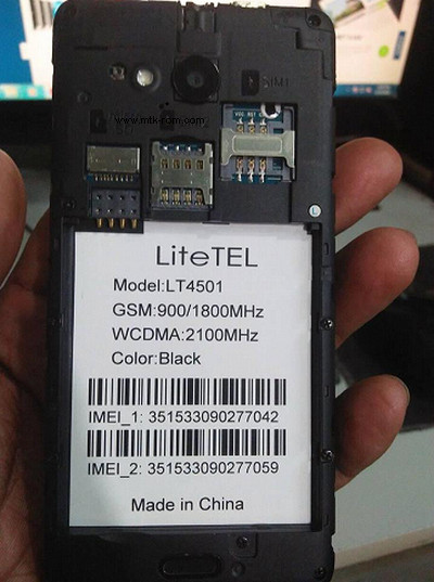 LiteTel LT4501 flash file Frp Remove