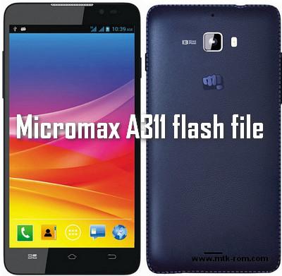 Micromax A311 flash file