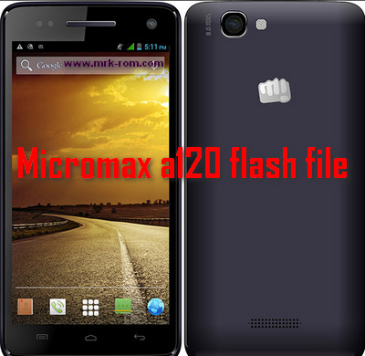 Micromax a120 flash file