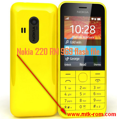 Nokia 220 RM 969 flash file
